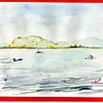 春の琵琶湖