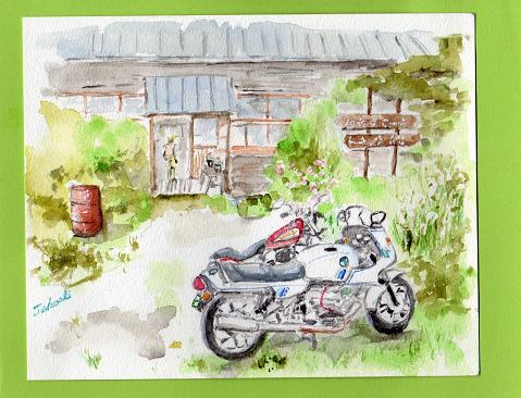 和佐又山ヒュッテとバイク