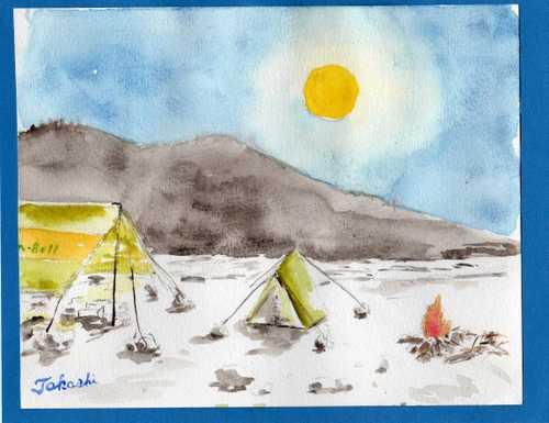 月夜のキャンプ