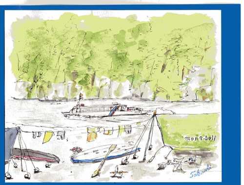 キャンプ地とジェット船